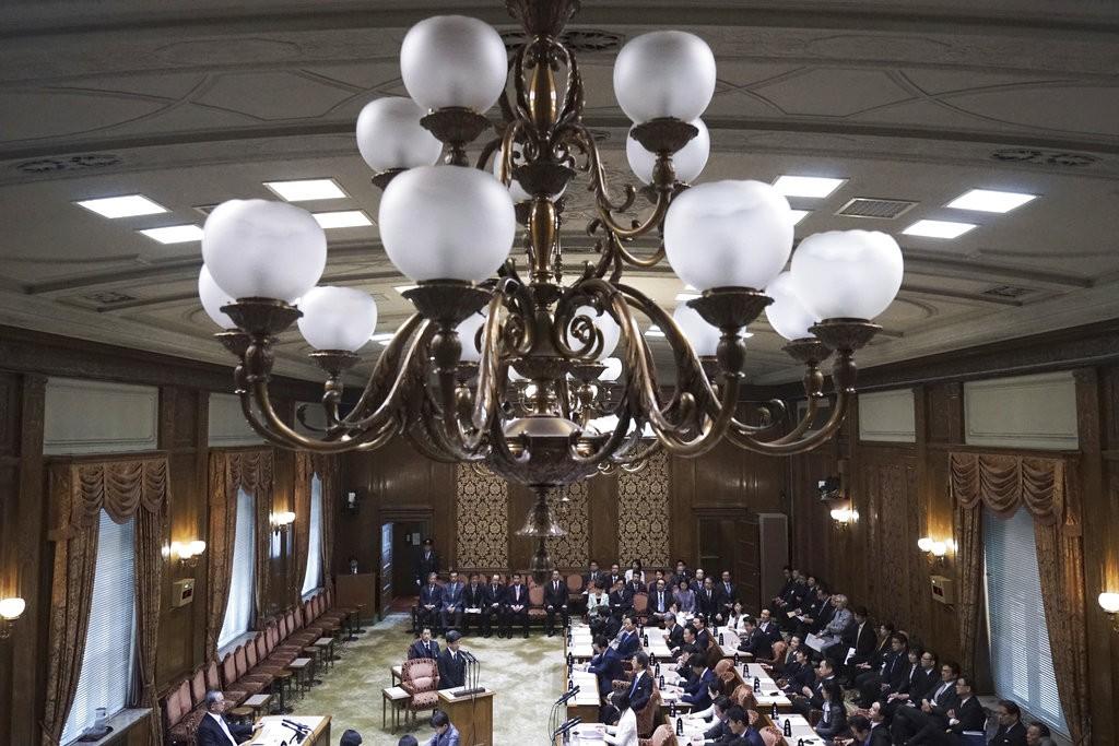 日本國會内部(圖片來源:美聯社)