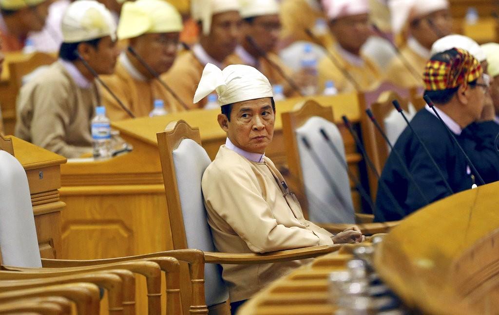 緬甸新總統文敏(圖片來源:美聯社)
