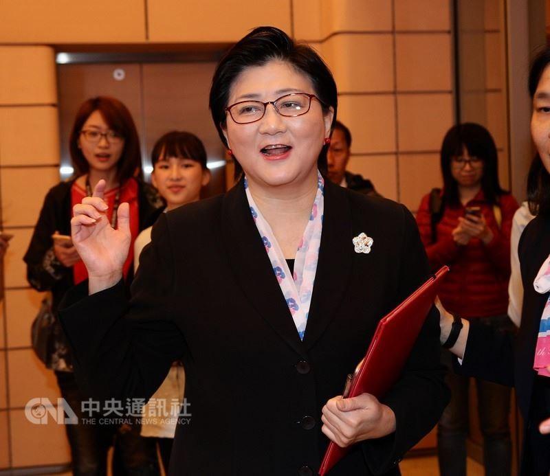婦聯會主委雷倩28日出席「蔣夫人121誕辰紀念禮拜」(圖片/中央社)
