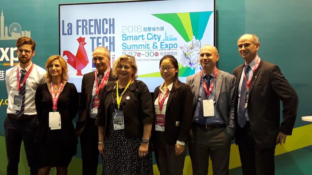 為了貼近台灣民眾,法國科技(La French Tech)昨(28)日在智慧城市展覽會場舉辦了科技演示會。