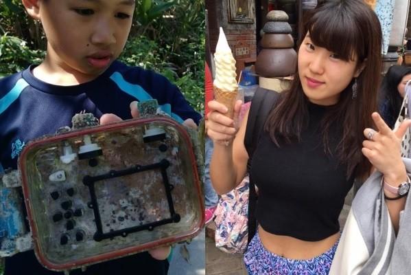 Yilan student (left), Tsubakihara (right). (Photos from facebook.com/park.lee.10)