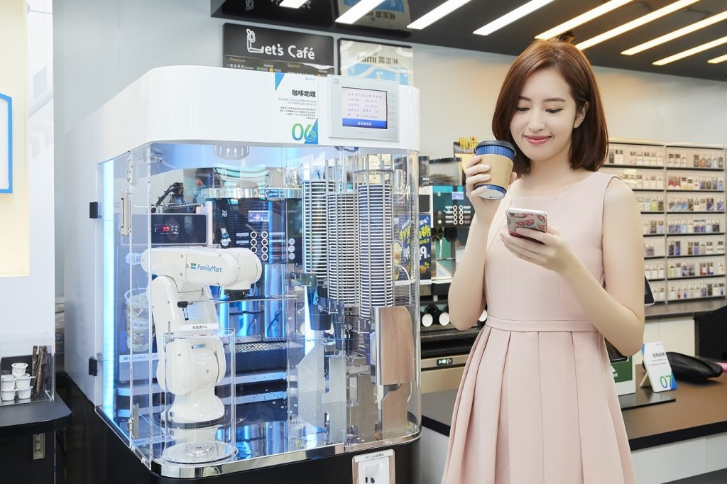 AI-made coffee is one of FamilyMart's new upgrades. (Image from FamilyMart)