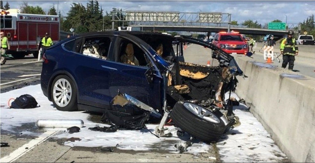Scene of the crash.