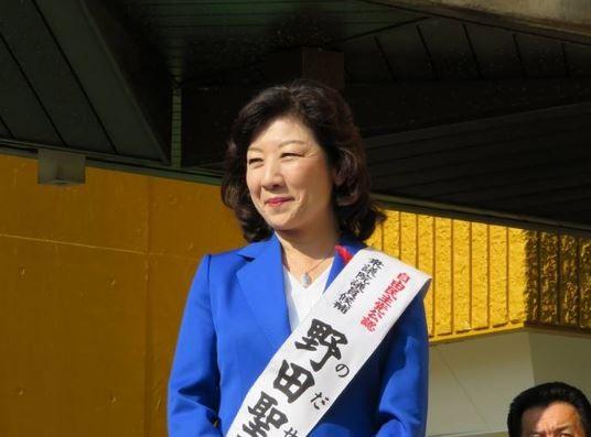 日本總務大臣野田聖子選舉時照片(圖片來源:翻攝自野田聖子臉書)