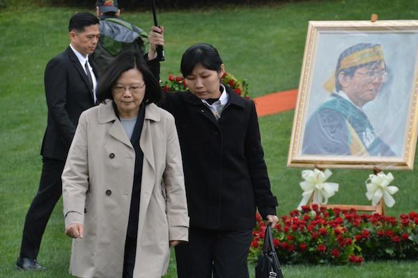 總統蔡英文今日出席「鄭南榕殉道29周年追思紀念會」
