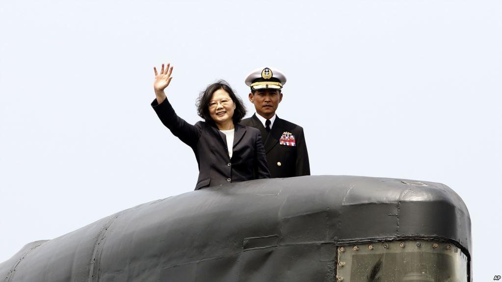 President Tsai Ing-wen on a Dutch-built submarine last year.