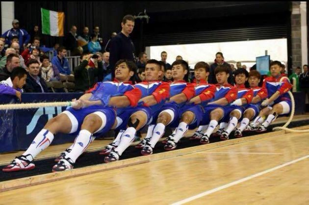 Taiwanese Nat. Tug of War Team (Image from Da Bennniu's Facebook Page)