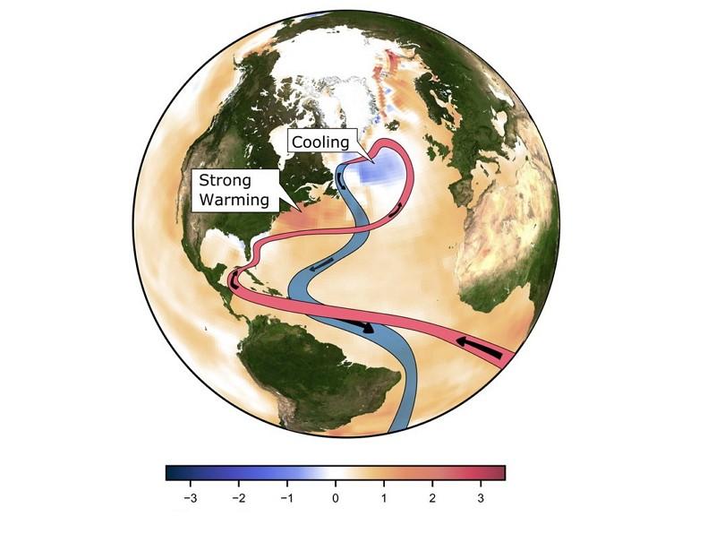 1870年以來海洋溫度變化情況(圖/美聯社)