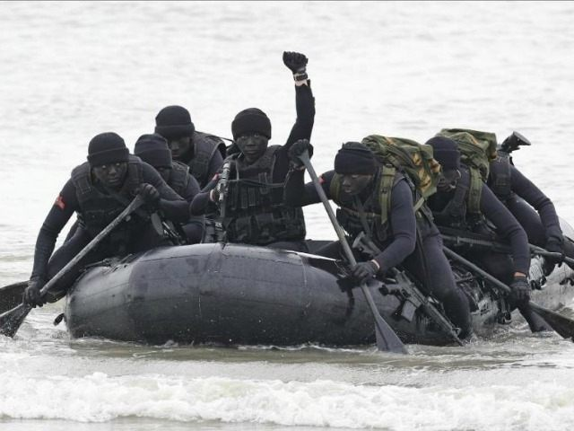 "File photo of Taiwan's ""frogmen"" marines performing exercises on Kinmen, April, 2016"