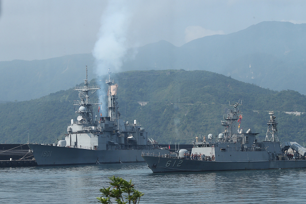Taiwan naval vessels participating in the military drills in Yilan, April 13