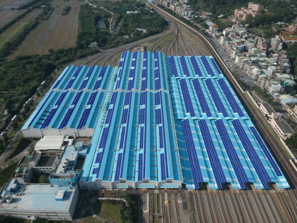 北投機廠屋頂將鋪設逾1萬片的太陽光電模組。(照片由臺北捷運公司提供)