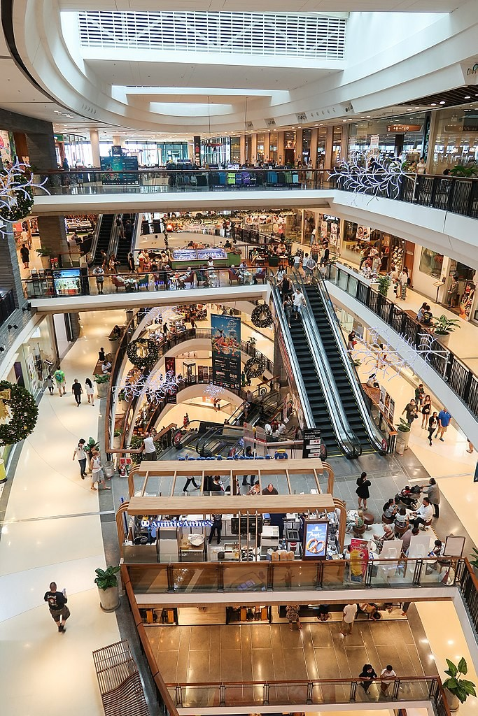 A shopping mall in Thailand (photo courtesy of Wpcpey)
