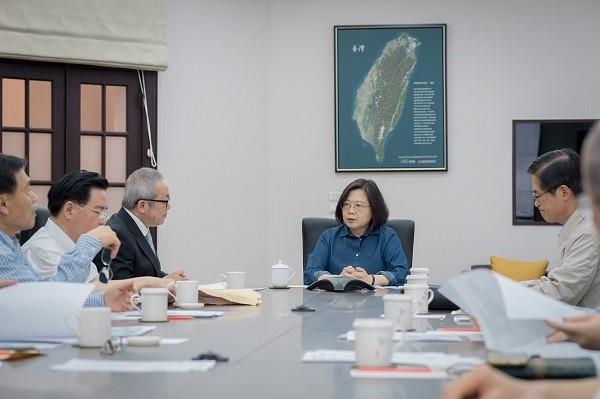 總統蔡英文14日下午召開國安高層會議(照片來源:總統府提供)