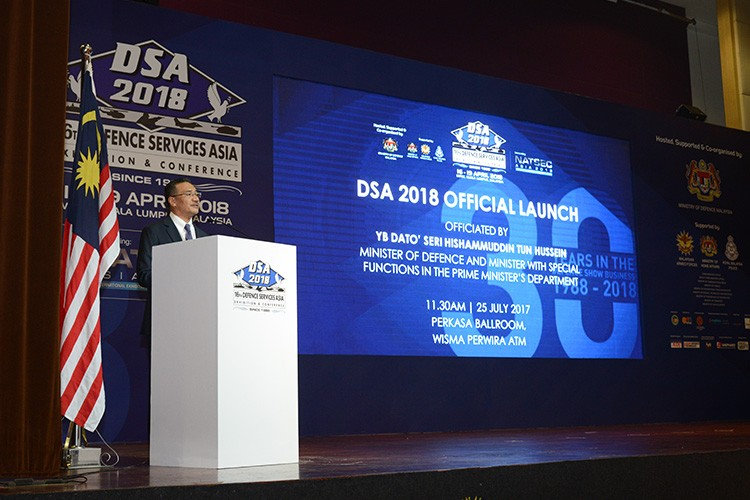 Launch event for the 16th Defense Services Asia conference in Kuala Lumpur, Malaysia April 16 (Image from DSA 2018)