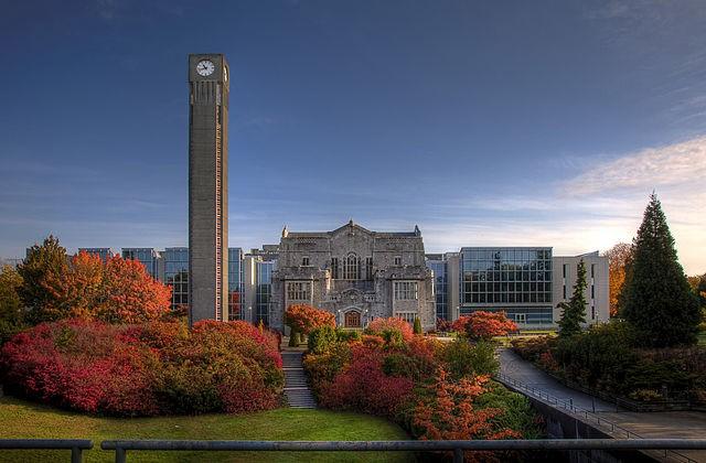 溫哥華校區主圖書館和Irving K. Barber Learning Centre。(CjayD - https://www.flick...
