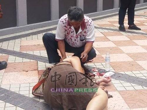 一名台灣劉姓女子在吉隆坡遭搶重傷(圖片翻攝自馬來西亞《中國報》)
