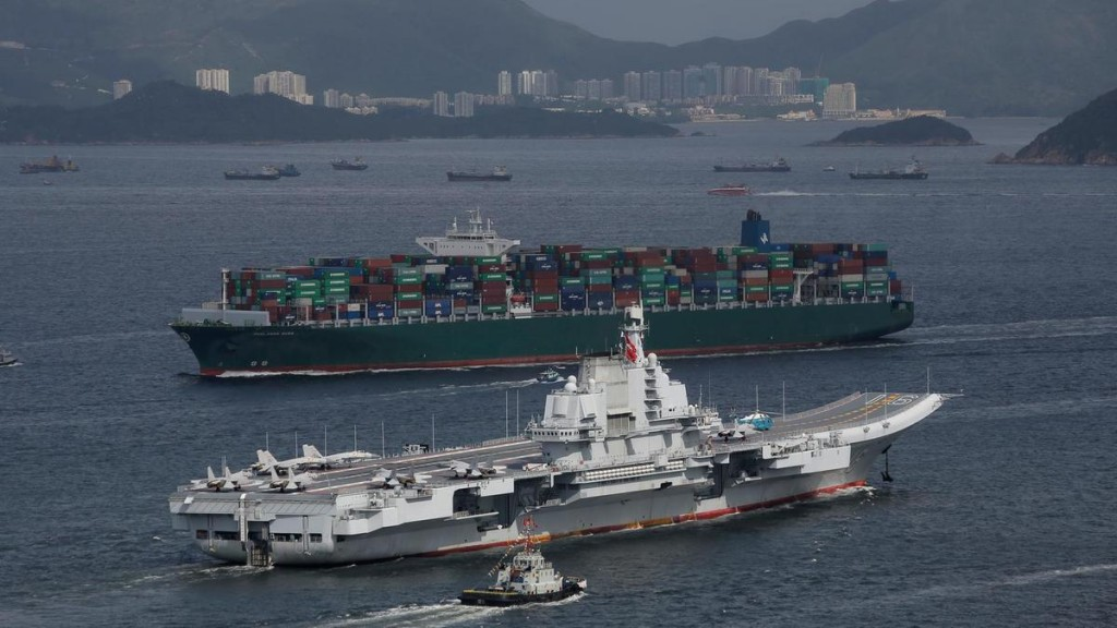 The Liaoning during a visit to Hong Kong.