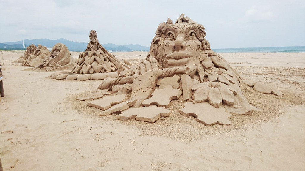 The Fulong sand sculpture festival began in 2008 to promote the art form in Taiwan.
