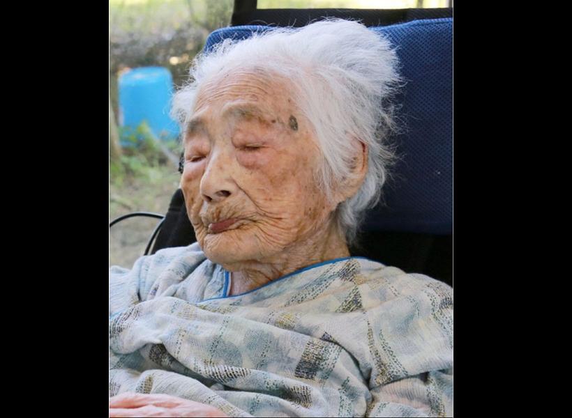 田島鍋奶奶21日辭世,享壽117歲(圖/美聯社)