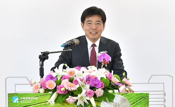 ITRI President Edwin Liu at his inaugural speech as president, April 2016 (Image from ITRI)