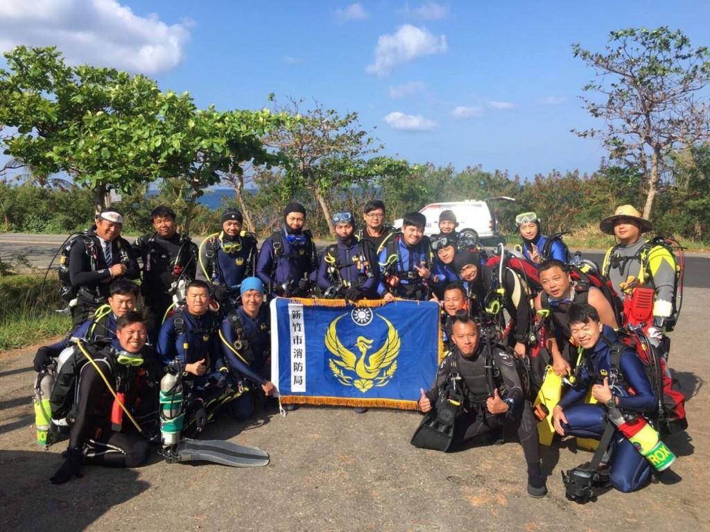 新竹市消防局潛水隊成員(翻攝自新聞稿)