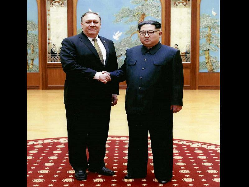 新任美國務卿龐皮歐日前至北韓密訪金正恩(美聯社)