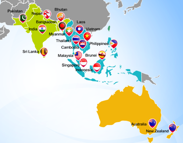 New Southbound Policy map. (Ministry of Foreign Affairs website)