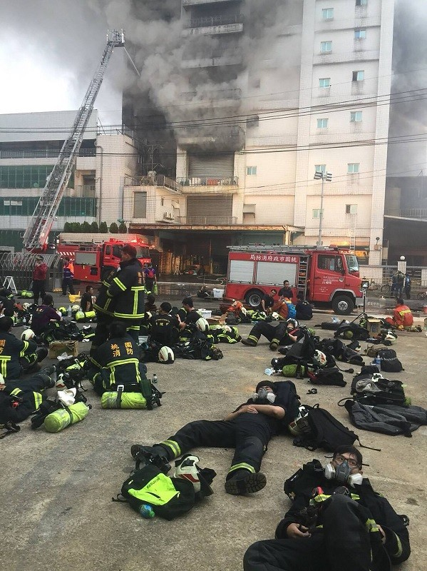 Five firefighters and two migrant workers die in factory fire in Taoyuan, northern Taiwan