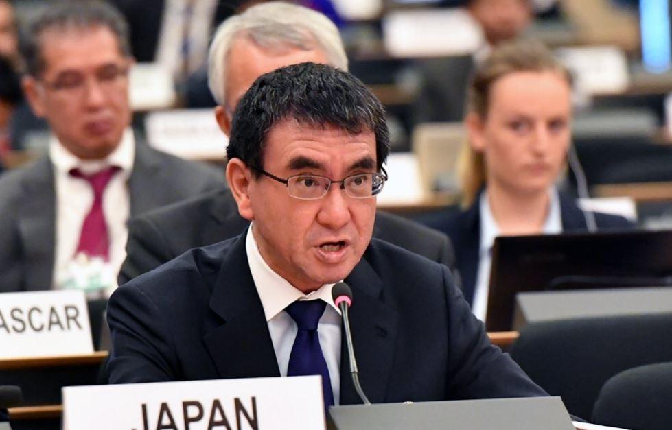 日本外務大臣河野太郎(翻攝自河野太郎推特)