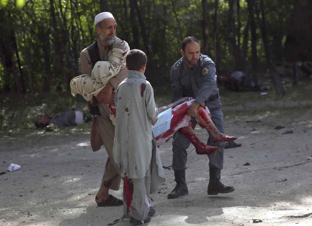 今(2018/04/30)日阿富汗恐怖攻擊傷者(美聯社)