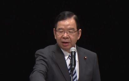 日本共產黨委員長(黨魁)志位和夫(翻攝自日本共產黨上傳至YouTube之影片)