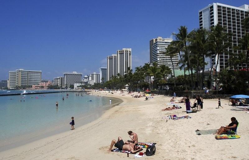 夏威夷檀香山威基基海灘(美聯社)
