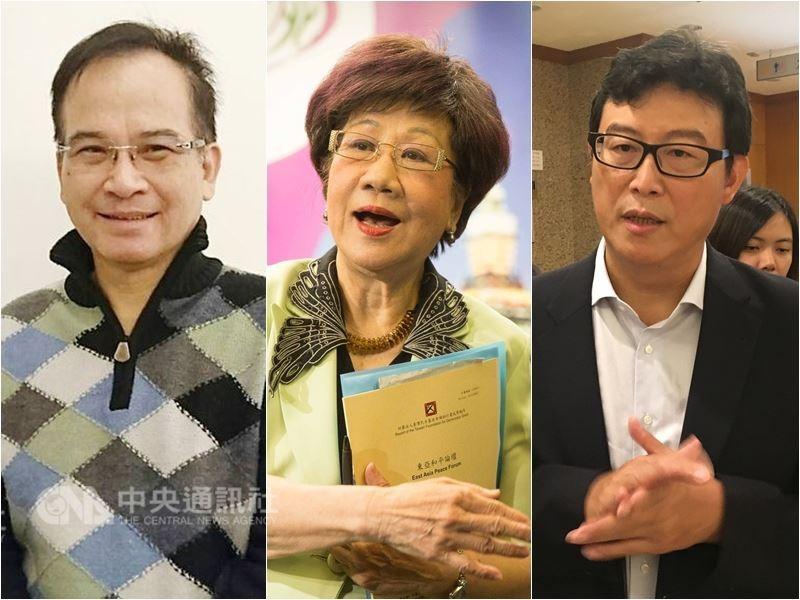 民進黨是否禮讓台北市長柯文哲備受矚目。「選舉對策委員會」表示將徵詢已表態參選的(左起)蘇煥智、呂秀蓮和姚文智等人。(中央社檔案照片)