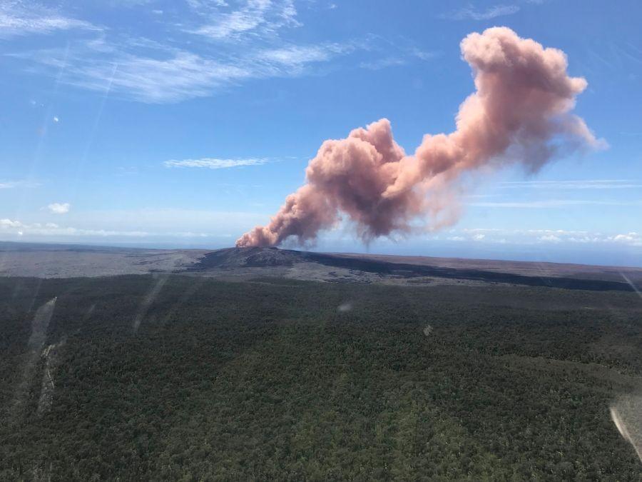 The Puu Oo vent on Hawaii's Kilauea Volcano
