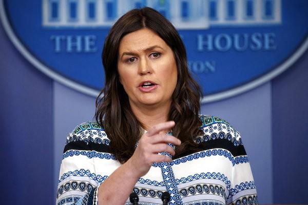 美國白宮發言人桑德斯(Sarah Sanders)(照片來源:美聯社)