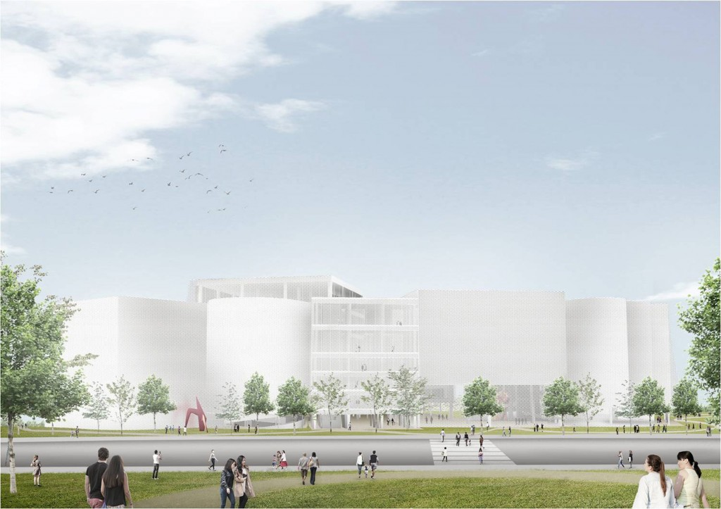 Digital blueprint for proposed Taichung library.