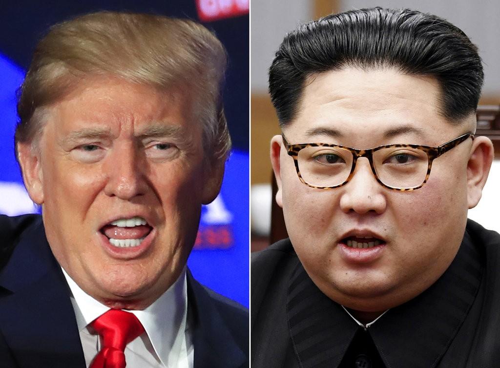 川普(左)和金正恩(照片來源:美聯社提供)