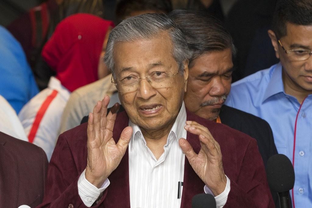 馬來西亞前總理馬哈地(Mahathir Mohamad)(圖片來源:美聯社)