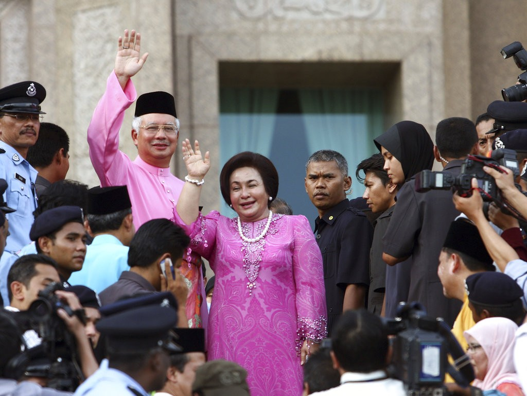 馬來西亞前首相納吉與夫人(美聯社)