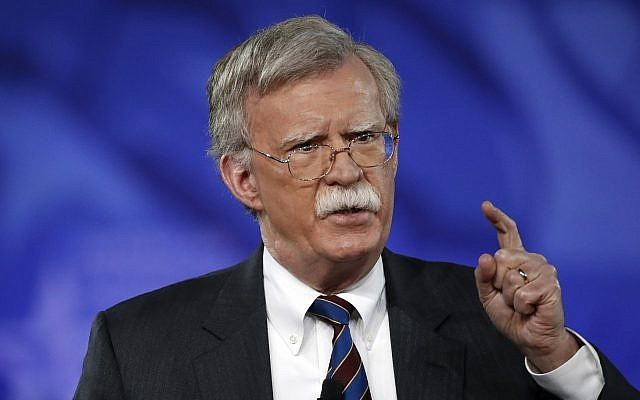 U.S. National Security Adviser John Bolton unlikely to visit Taiwan next month.