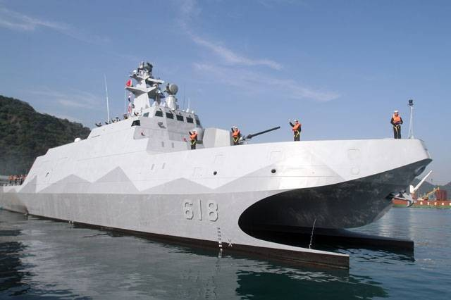 Taiwan's only domestically built Tuo River class Corvette