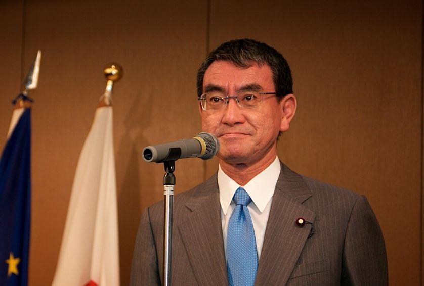 日本外相河野太郎(翻攝自歐盟駐日代表處)