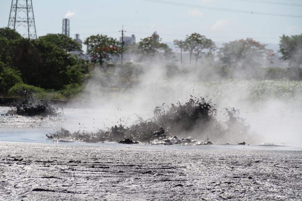 Mud volcano envelopes Pingtung farmland.