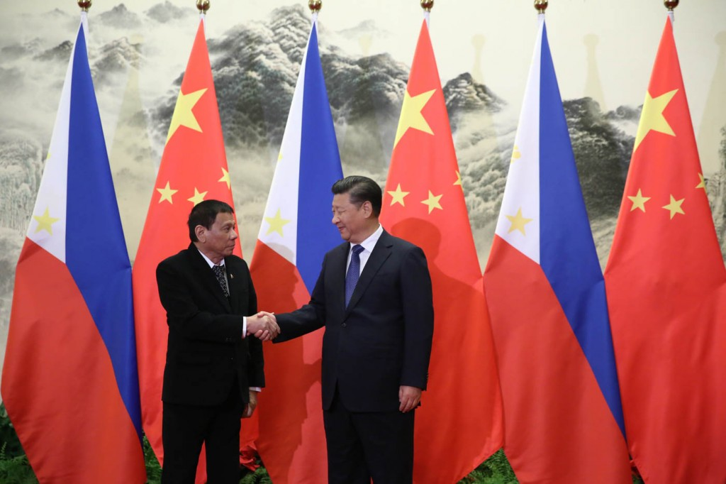 Presidente Duterte and President Xi last met at the Boao Forum in April.