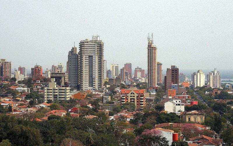 The photo shows Asunción, the capital city of Paraguay.