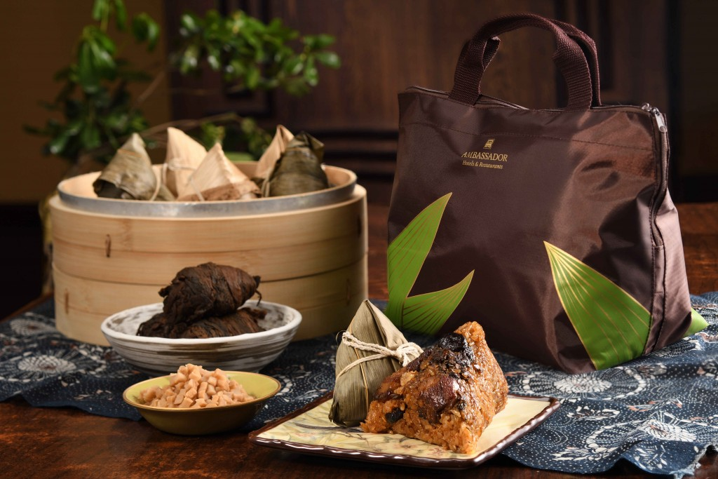 2018端午節台北國賓推出御品雙味粽禮盒。