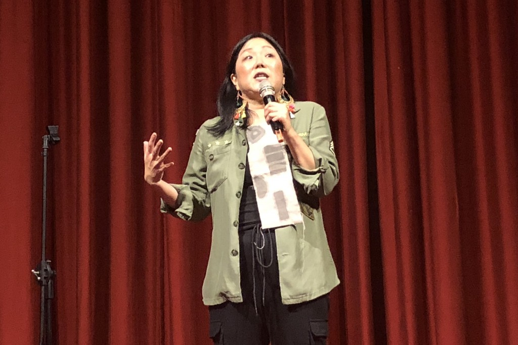 Margaret Cho, making Taipei laugh.