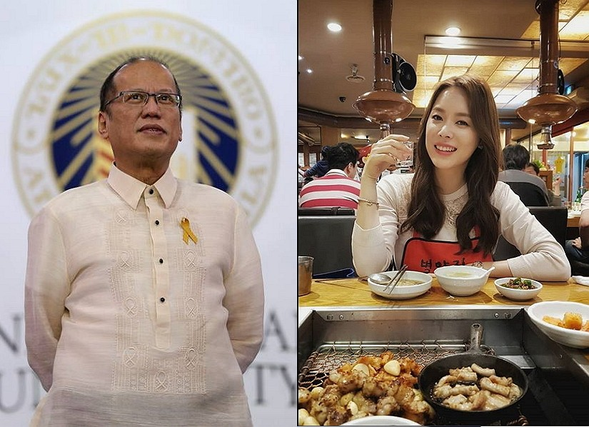 Photo from Benigno Aquino III's Facebook account (left) and Grace Lee's Instagram account (right)