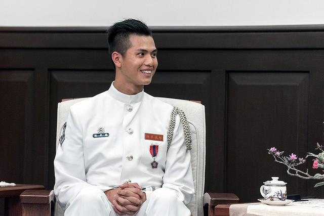 海軍儀隊上兵蘇祈麟(圖片:總統府提供)