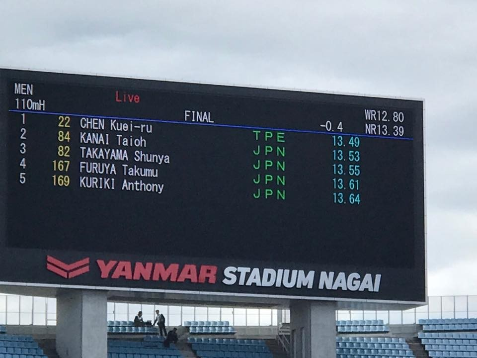 Taiwanese athlete Chen Kuei-ru breaks national record twice in May